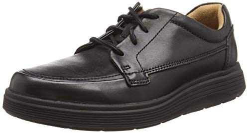 Clarks Un Abode Ease, Zapatos de Cordones Derby para Hombre, Negro (Black Leather), 43 EU