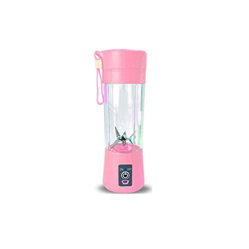 XLEVE Electric USB Juicer Blender Portable Juicer Cup 400ml Water Bottle Juicer Machine with 4 Blades (Color : A)