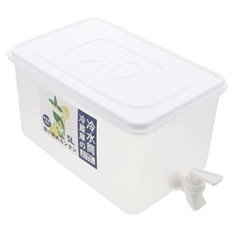 HEMOTON Hervidor Frío de 5L con Grifo Dispensador de Bebidas Refrigerador Cubo de Jugo Contenedor de Bebidas Dispensador de Bebidas Mantener Frío para Fiestas Aire Libre (37X18.