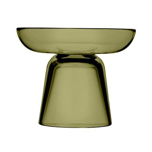 Iittala Nappula Kerzenhalter aus Glas - Matti Klenell, Grün (Moss green), 107 mm
