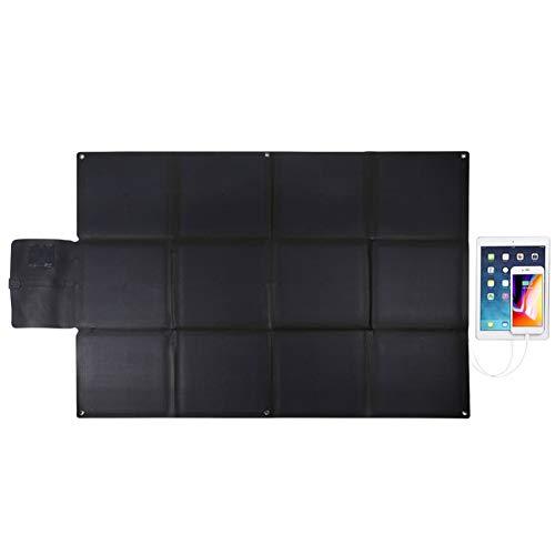 WNTHBJ 150 W Watt monokristallijn zonnepaneel, zonnepaneel, inklapbaar, draagbaar, met laadproces, 5 V, 4,8 A poort, USB-laadaansluiting (2 stuks)
