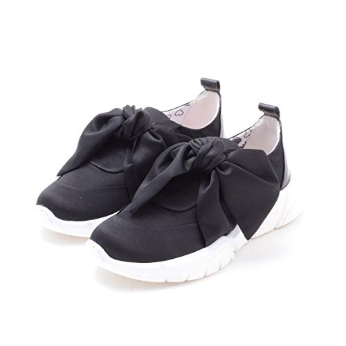 Zapatos de Mujer Zapatilla Raso Lazo Negro Love Moschino Primavera Verano 2019
