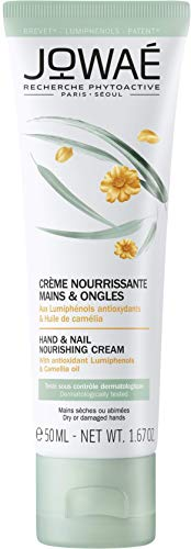 Jowaé Crema Nutriente Mani e Unghie ai Lumifenoli Antiossidanti e Olio di Camelia, Ideale per Mani Secche o Screpolate, anche le più Sensibili. Format