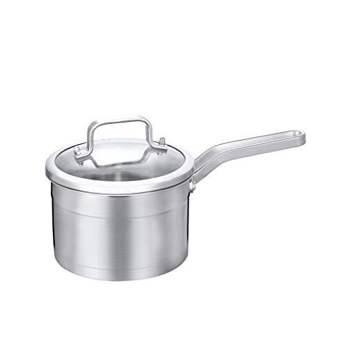 Petit pot à lait en acier inoxydable 304 Petit pot épais Pot antiadhésif Pot à nouilles Pot à lait chaud Complément alimentaire pour bébé Pot