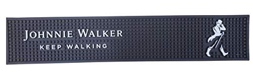 Johnnie Walker Bar Mat Keep Walking Scotch Whisky Spill Mat Rail Drip Mat - 19.25 x 3.5