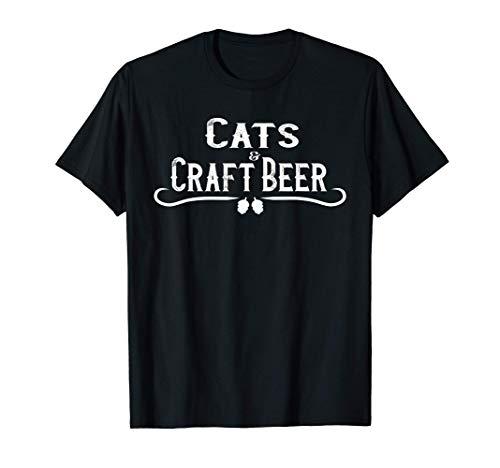 Cats & Craft Beer Shirt Hops Brew IPA Drinkers Gift Tshirt