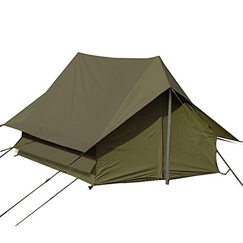 ZFRXIGN Carpa Retro para Acampar Al Aire Libre 2 Personas Tour De Auto-conducción para Acampar Cabaña A Prueba De Lluvia Tipo A-Line Carpa Oxford Tela Verde Militar