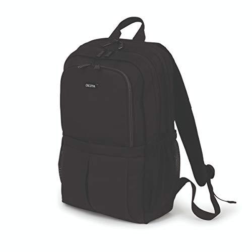 Dicota Eco Backpack SCALE 15-17,3 - Mochila ligera para portátil con acolchado protector y amplio espacio de almacenamiento - Hecha de PET reciclado - Negra