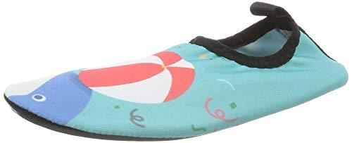 HMIYA Kinder Badeschuhe Wasserschuhe Strandschuhe Schwimmschuhe Aquaschuhe Surfschuhe Barfuss Schuh für Jungen Mädchen Kleinkind Beach Pool(Grün Cq,20/21)