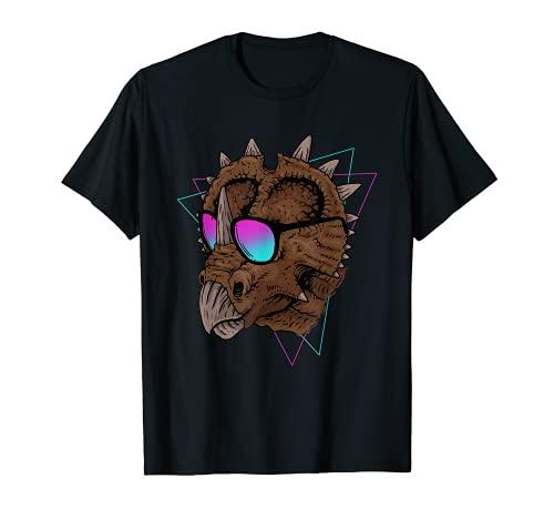 Gafas de sol Triceratops Dinosaurio Vaporwave Camiseta