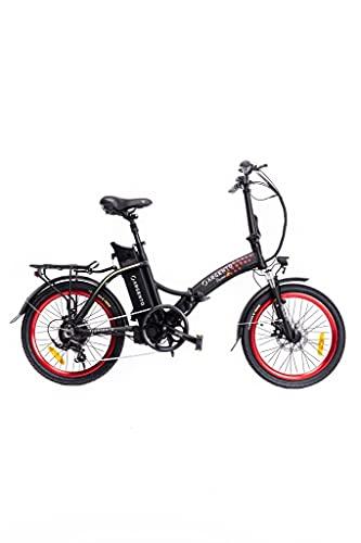 Argento Piuma+, Bicicletta Elettrica da Città Pieghevole Unisex Adulto, Rosso, 42