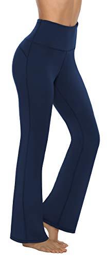 Persit Damen Schlaghose Yogahose, High Waist Freizeithose Sporthose Jazzpants Marine - M