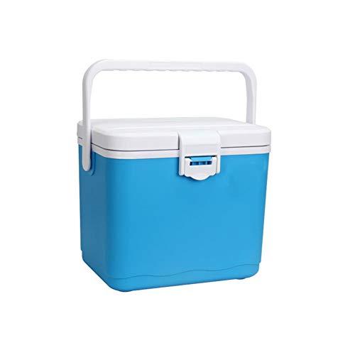 X&HUI Outdoor koelbox camping barbecue picknick vissen medisch ijs opslag moedermelk behoud multifunctionele draagbare vierkant blauw wit oranje 4.5L