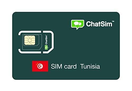 SIM Card internazionale per viaggi in TUNISIA – ChatSim – copertura in 165 Paesi, roaming globale – rete multi-operatore GSM/2G/3G/4G senza costi fissi, senza scadenza e tariffe competitive