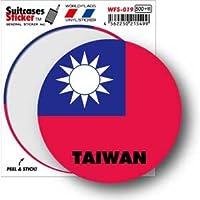WFS-019 TAIWAN 台湾 国旗ステッカー サークル スーツケースステッカー