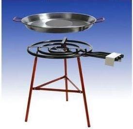 Paella Grillset Cordoba mit 3-flammigem, 55cm Gasbrenner (20,50 KW), 65cm Pfanne, verstärkte Füsse, incl. Schlauch und Druckminderer