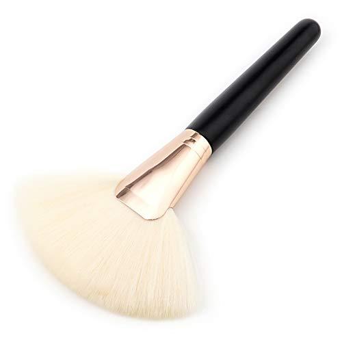 Gcroet 1PC Brosse De Maquillage Fan Fibre De Nylon Visage Pinceau Poudre Grande CosméTique Pinceau Fond De Teint (Blanc)