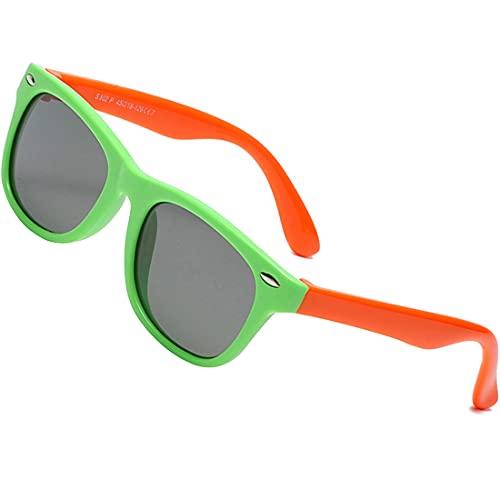 Gafas de Sol Flexibles Polarizadas Niña Infantiles para Niños Gafas Uvex Fotocromaticas Ciclismode para Bebe Niñas 3 a 14 Años de Edad, UV400 100% Protección Rayos UVA y UVB, Confortables