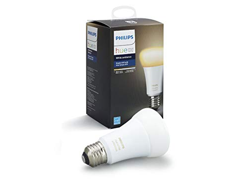 Philips Hue White Ambiance A19 10W Dimmable LED Smart Bulb (Hue Hub Required, Works with Alexa,...
