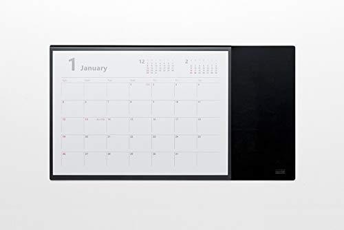 ミワックス デスクマット デスクカレンダー フリー ブラック MX-CA-BK