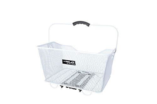 XLC Unisex - volwassenen BA-B04 mand carry more, wit, 324x215x416