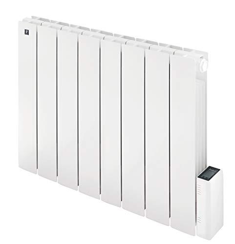 Radiatore Elettrico Alluminio Griso 1500W a Basso Consumo, Calorifero Alluminio da Parete, Riscaldamento fino a 18 mq - Termostato digitale Programmabile Deltadore - Bianco