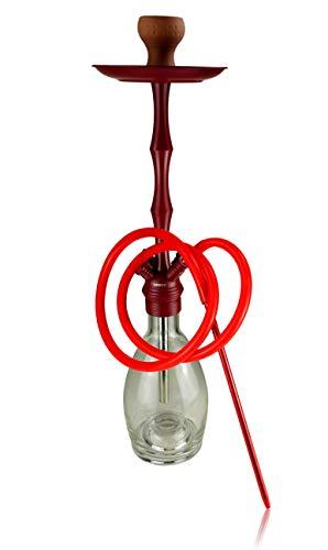 Bayli Shisha Set   Hookah Komplettset   Höhe-51cm   Orientalische Wasserpfeife mit Zubehör, Silikonschlauch inklusive Zange, Kohleteller, Tonkopf, Bowl Glasklar   erweiterbar auf 4 Schlauchanschlüsse