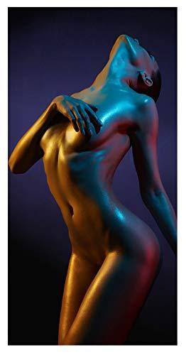insidehome/Infrarotheizung Bildheizung SLIM/Stahlblech rahmenlos/extra schlank/mit hochwertigem Druck und Schutzlack / 550 Watt, 100x50x1,5 cm/für 9-11 m² / Motiv: Woman II hoch