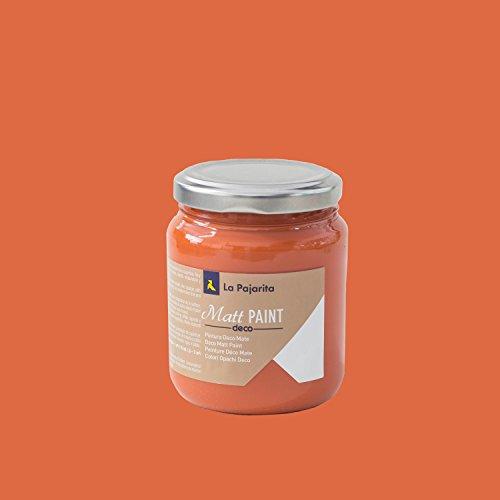 La Pajarita Matt Paint MP-04, Pintura Mate Base Agua, Rojo, 175 ml