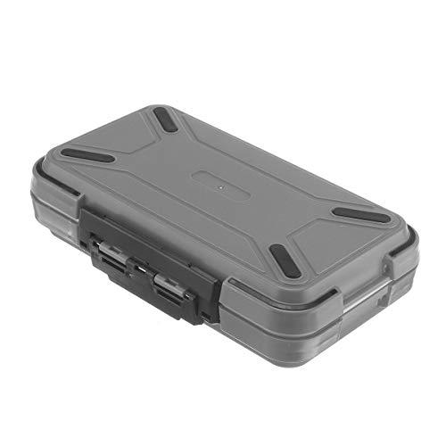 MJJEsports Dual-Layer Kunststof Vissen Lure Vishaak aas Opslag Tackle Box Case Organizer, Grijs, 1