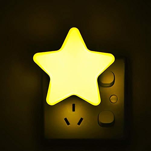 4Color LED Sensor Controle Nachtlampje Mini Ster LED Nachtlampje Donker Nacht Baby Slapen Licht Nachtlampje@Yellow_United States_EU
