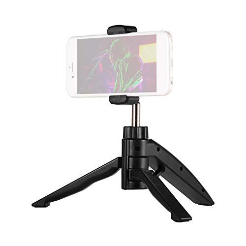 Muslady Mini desktop statief telefoonstandaard houder met verstelbare smartphone-cliphouder voor smartphone-zang video-opname live streaming online chatten