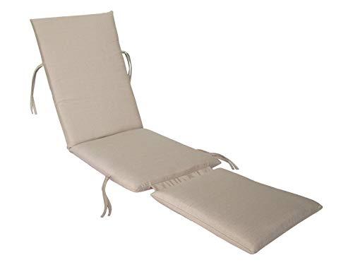 Made in USA Steamer Chair Cushion Sunbrella Linen Champagne