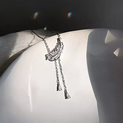 Chenfeng Collar Collar con Flecos y circonita cúbica Regalos para Esposas, Madres y Novias. Regalo de cumpleaños
