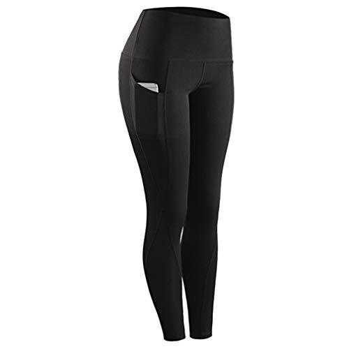 Generieke yogabroek voor dames, met tas, hoge taille, stretch plus-size, slim panty's, fitness, broek, workout sport