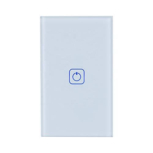 Interruptor inteligente wifi de parede compatível com Alexa, Google Assistant e IFTTT