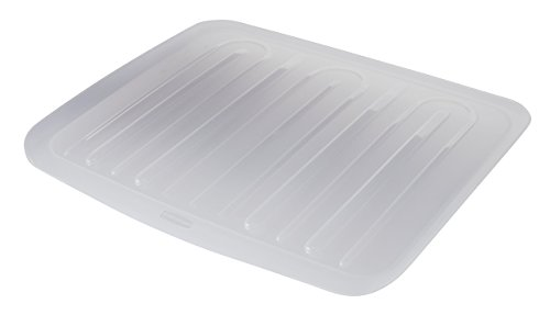 Rubbermaid Food Products FG1182MACLR, Clear Rubbermaid Antimicrobial Drain Board Large