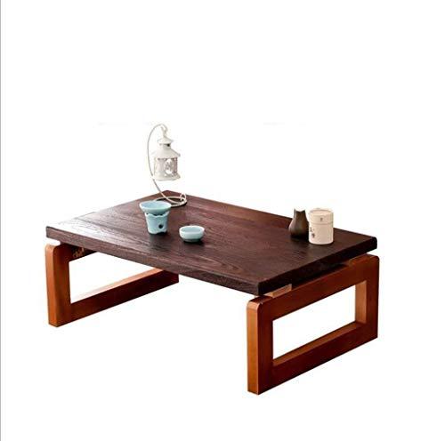 WTT Vouwtafel Tuintafels eettafel Effen houten salontafel Bow tafel Lage tafel Modern opklapbaar nachtkastje Creatief multifunctioneel (Kleur: beige)