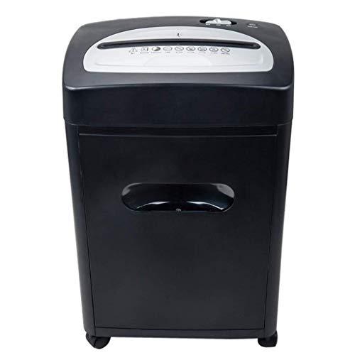 GANE Trituradora de Papel, Suministros 8 Piezas de Tarjeta de crédito Rota 18 litros de Capacidad de residuos 340 * 240 * 524 mm Silencio para Oficina en casa con CD/crédito Destructor