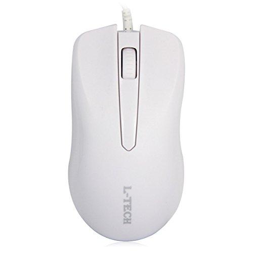 l-tech M9–4D niedlich Mini Silent Click Wired Maus rutschfest Compact geräuschlos Gaming-Mäuse weiß