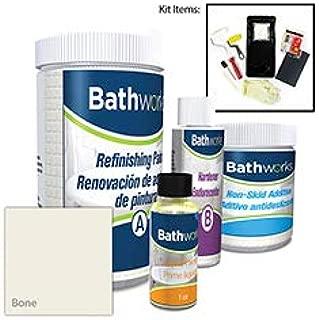 Bathworks DIY Bathtub & Tile Refinishing Kit w/Non-Slip Protection (BONE); 22 oz; Tub; Tile; Wall Surround; Sink; Quick 24 hour dry time; High Gloss Resin Finish