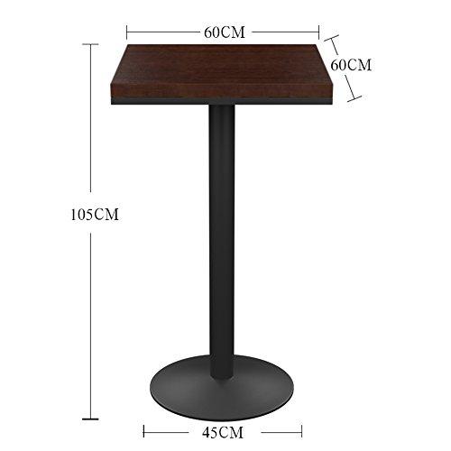 MEIDUO Durable Selles Bar table ronde Fer pour Bar restaurant extérieur maison 75cm 105cm pour intérieur extérieur (Couleur : Carré, taille : 105cm)