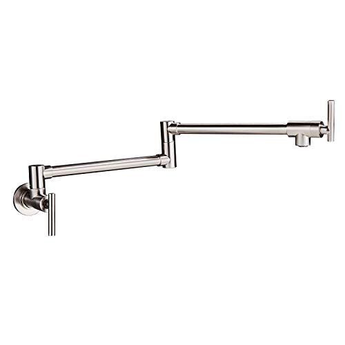 Rozin Stainless Steel Pot Filler Faucet Wall Mounted Dual Swing Joints Design Sink Faucet