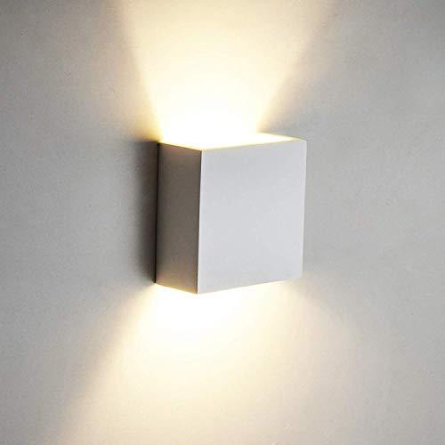 OOWOLF LED Lámpara De Pared Interior,Moderna Aplique Para Pared Decorativa Luz de Ambiente Para Dormitorio Cocina Sala De Estar Comedor Corredor Baño Terraza, Blanco Cálido