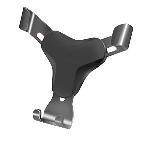 Preisvergleich Produktbild Challeng Telefonhalter Aluminium Auto Air Vent Schwerkraft Design Halterung Halter Stand für Mobile Tablet (Schwarz)