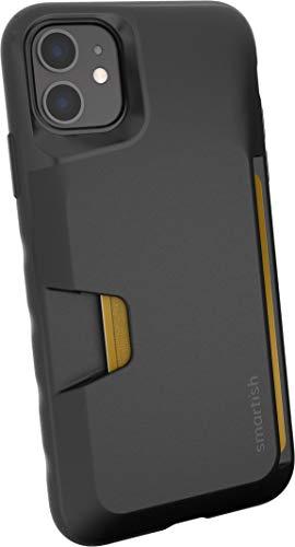 Smartish iPhone 11 Wallet Case  Wallet Slayer Vol 1 Slim  Protective Credit Card Holder Silk  Black Tie Affair
