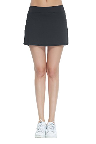 Honour Fashion Women's Golf Underneath Shorts Skorts (Black, Medium)
