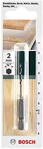 Bosch Holzbohrer mit 1/4 Zoll-Sechskantschaft (Ø 2 mm)
