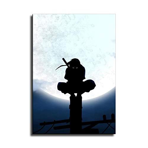 Póster artístico de Naruto Personajes Uchiha Itachi y arte de pared, impresión moderna para decoración de dormitorio familiar