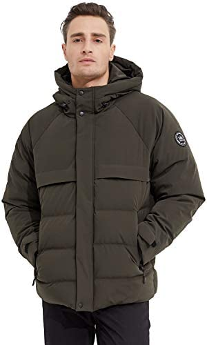 Orolay Men s Down Jacket Winter Bubble Coat Puffer Jacket with Adjustable Hood Grape Leaf 2XL product image